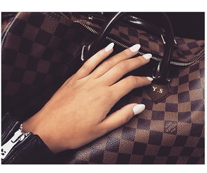 Louis Vuitton, nails, and luxury image