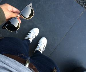 adidas, Clubmaster, and fashion image