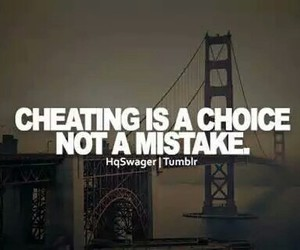 choice, cheating, and mistake image