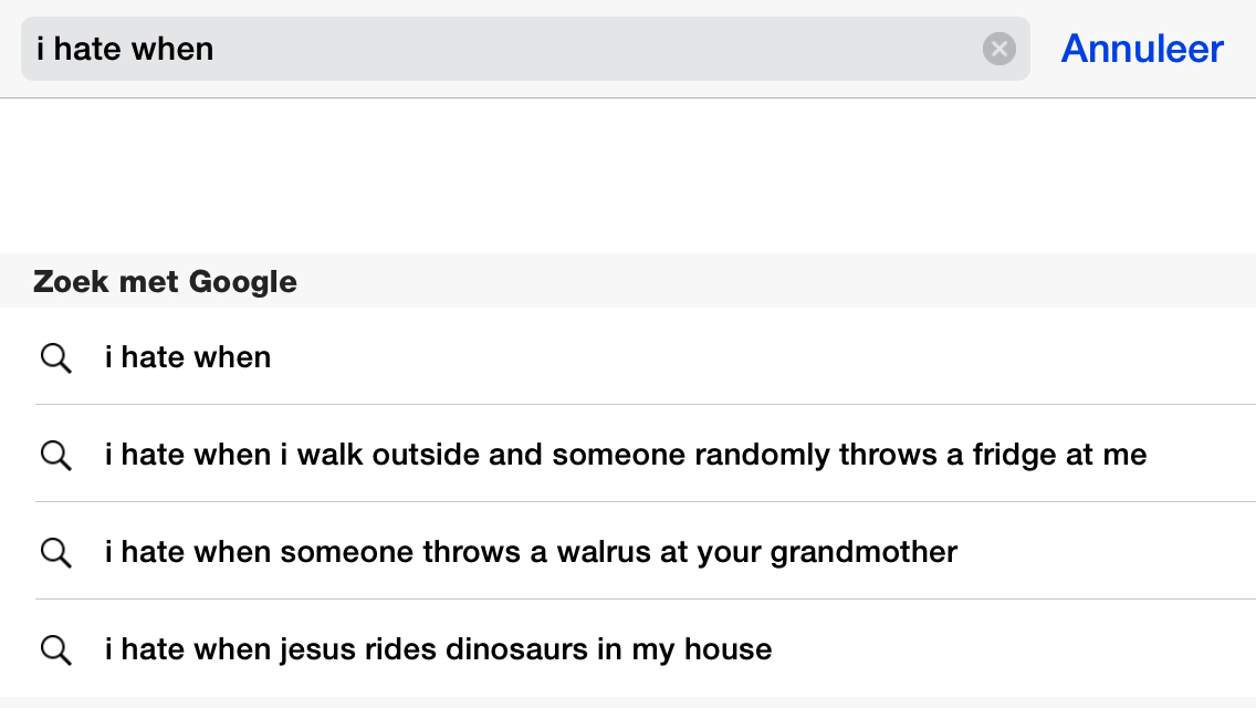 i hate it when someone throws a walrus at my grandma
