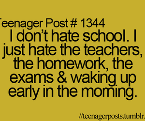school, teenager post, and hate image