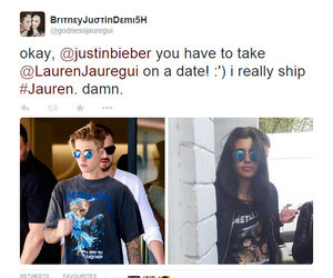justin, lauren, and justin bieber image