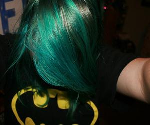 batman, green hair, and hair image