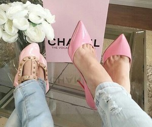 pink, chanel, and shoes image