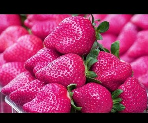 fruit, pink, and strawberry image