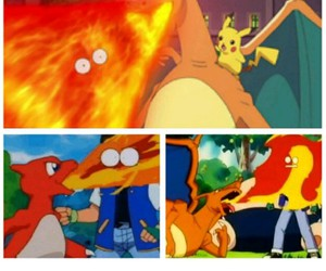 ash, pokemon, and charizard image