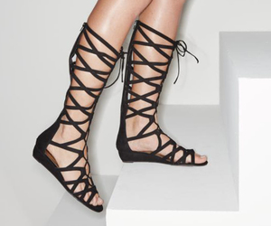 fashion, gladiator sandals, and shoes image