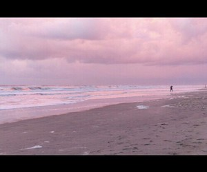 beach, sand, and pink image