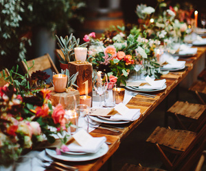 beauty, table, and dinner image