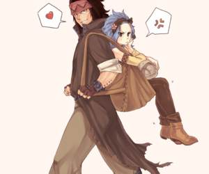 anime, gale, and gajeel redfox image