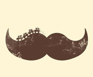 mustache, moustache, and hipster image