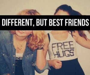 best friends, friends, and different image