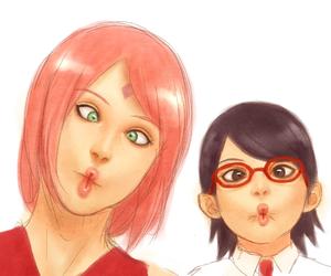 anime, sasusaku, and naruto image