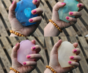 amazonite, crystals, and rose quartz image