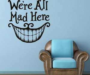 alice in wonderland, Cheshire cat, and home decor image