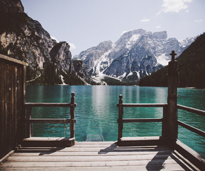 mountains, beautiful, and lake image
