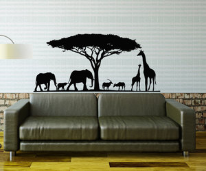 home decor, jungle, and living room decor image