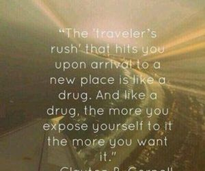 quote, travel, and adventure image
