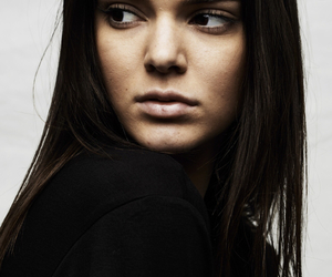 model, kendall jenner, and black and white image
