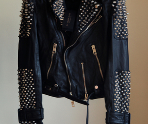 fashion, jacket, and studs image