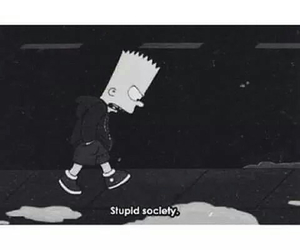 society, bart, and simpsons image