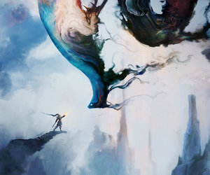 art, fantasy, and dragon image