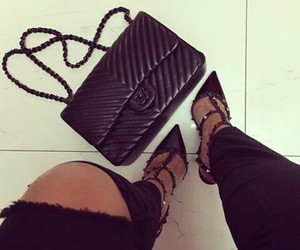 heels, luxury, and black image