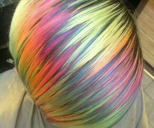 hair, rainbow, and rainbow hair image