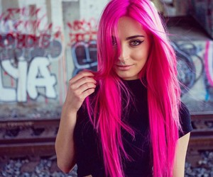 beauty, pink hair, and hair goals image