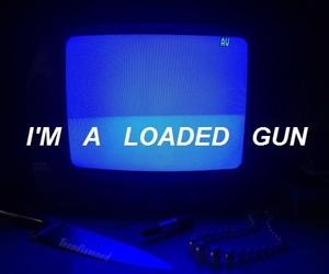 grunge, gun, and blue image