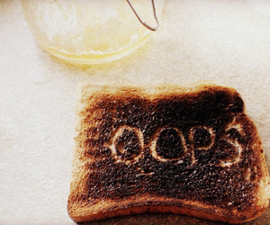 toast, burnt, and funny image
