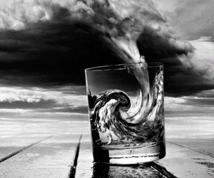water, glass, and storm image