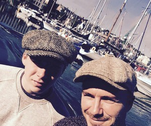 Brooklyn and David Beckham image