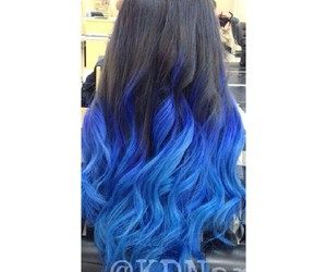 alternative, black blue, and curly hair image