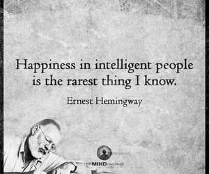 ernest hemingway, happiness, and quote image