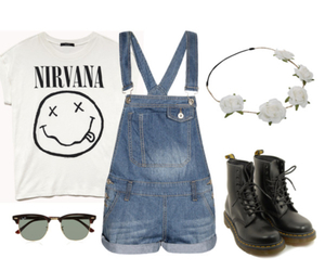 grunge, nirvana, and outfit image