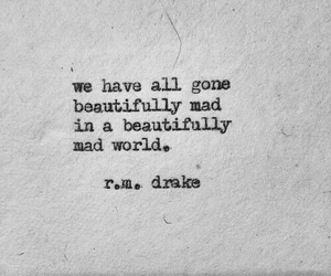 quote, beautiful, and r.m. drake image