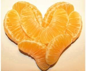 orange, heart, and love image