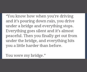 quotes, love, and bridge image