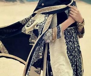 hijab, muslim, and desert image