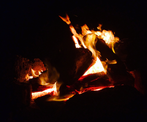 fire, flames, and grunge image