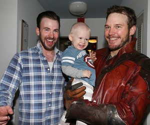 chris pratt, chris evans, and captain america image