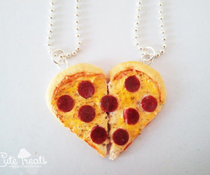 pizza, necklace, and bff image