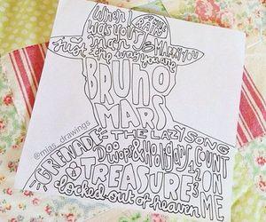Lyrics, bruno, and drawing image