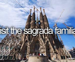 adventure, motivational, and Sagrada Familia image