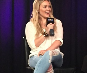 celebrity, Hilary Duff, and interview image