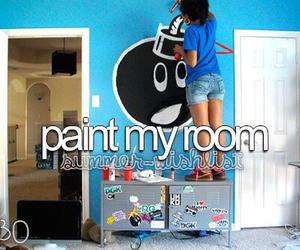 paint, room, and bucket list image