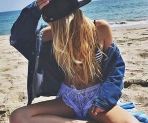 girl and beach image