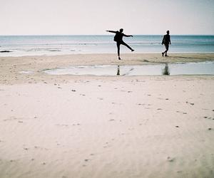 beach, boy, and sea image