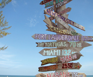 beach, travel, and direction image